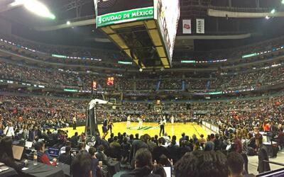 La Arena Ciudad de México lució casi llena para el partido.