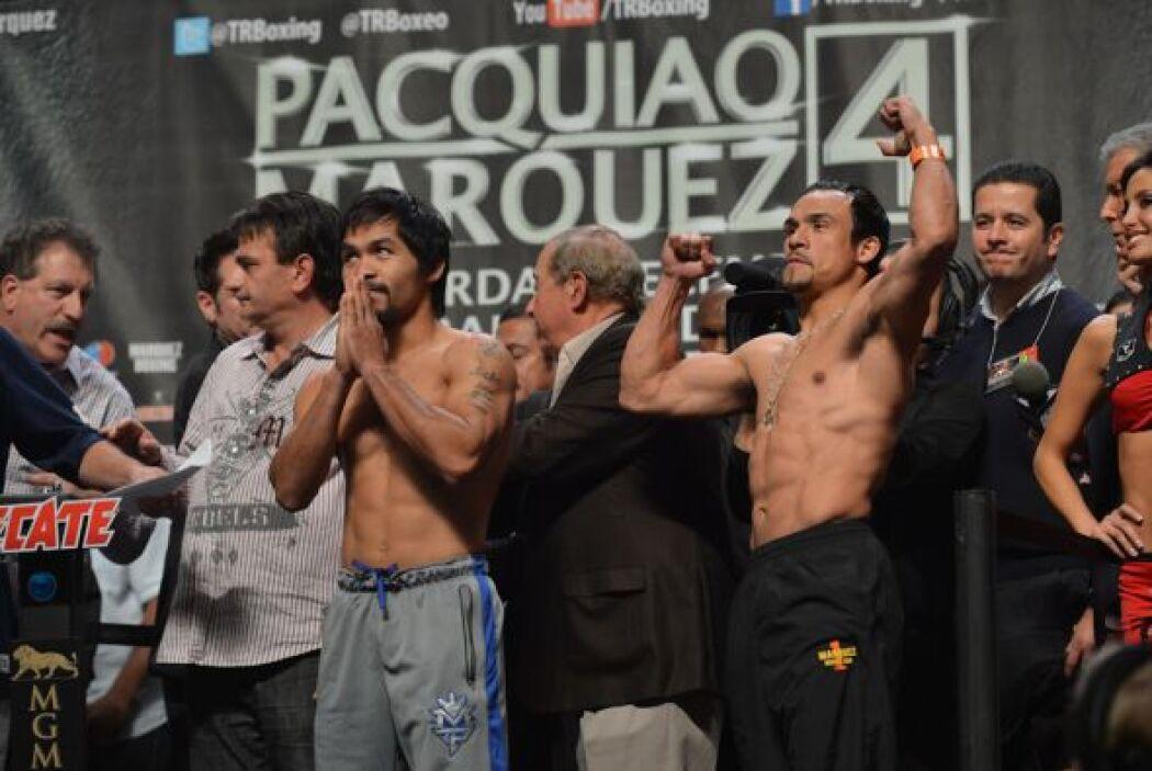 Pacquiao dio gracias por haber superado el pesaje.