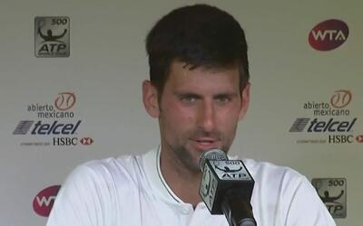 Djokovic sorprendió hablando español al llegar a México y mostró su agra...
