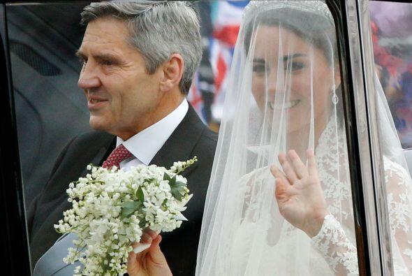 Catherine junto a su orgulloso padre.