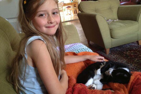 Gracias a su amada gatita Pippa, la pequeña fue despertada en tiempo, an...