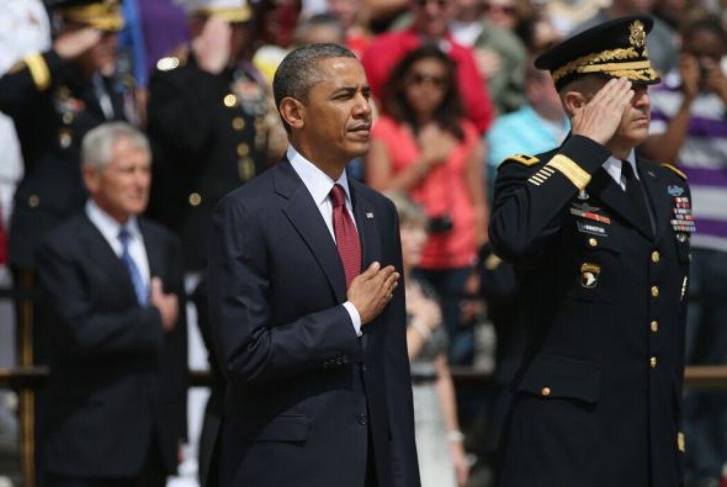 """En su discurso, dijo que Arlington """"siempre ha sido el hogar de hombres..."""