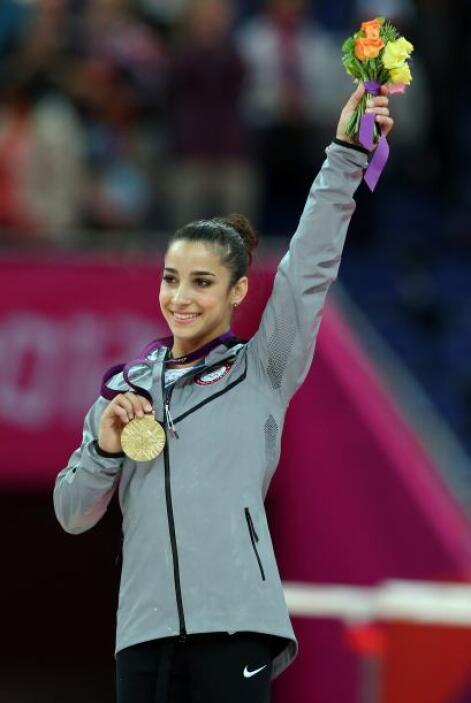 10- ALY RAISMAN, gimnasta  Medallas de oro: 2  Medallas de plata: 0  Med...