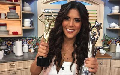 Francisca Lachapel muestra con orgullo sus premios