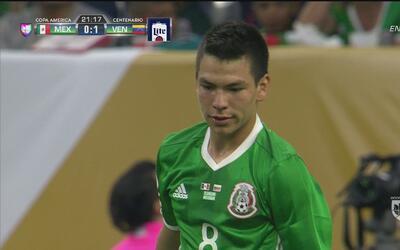 Hirving Lozano se perdió el gol del empate mexicano