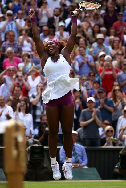 ¡Serena disfrutó la victoria!