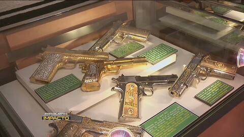Museo de Enervantes exhibe las armas de grandes capos de la mafia mexicana