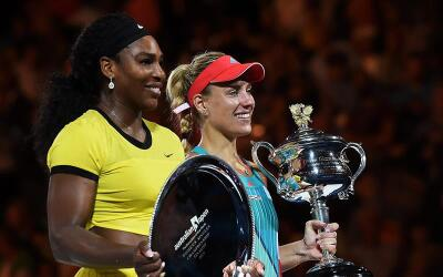 Serena Williams y Angelique Kerber.