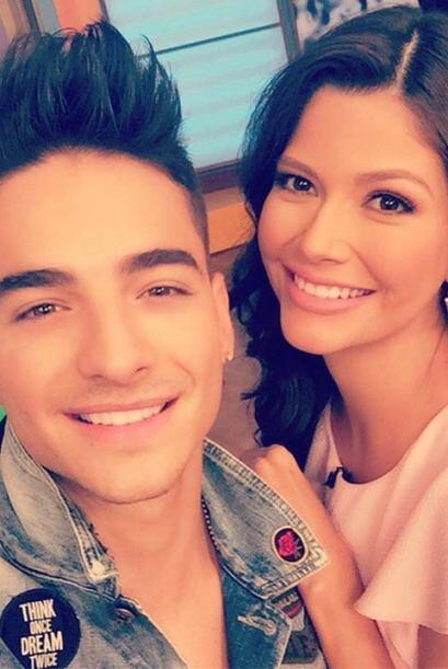 """¡Selfie con Maluma en Despierta América!"", compa..."