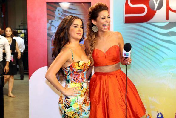 Danna García fue otra de las estrellas que pudimos captar detr&aa...