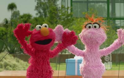 ¡Manos a la cabeza! Elmo y Lola jugaron: Elmo dice