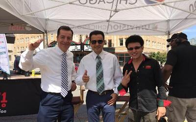 Univision dijo presente en Waukegan. Jorge Barbosa, Enrique Rodríguez y...