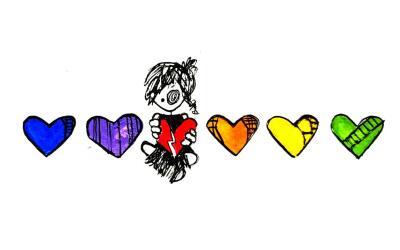Dibujos e ilustraciones con los colores de la bandera gay están siendo u...