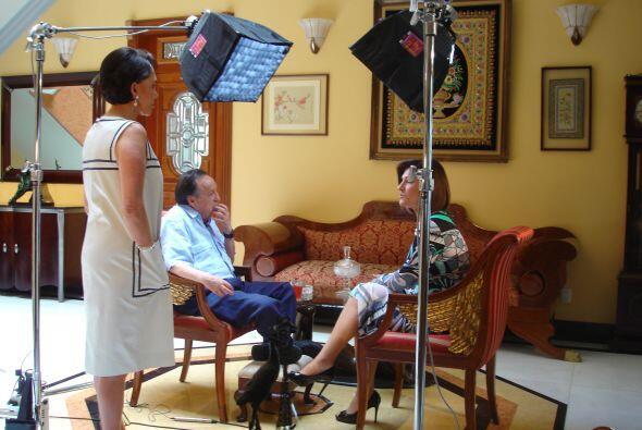 Teresa Rodríguez entrevistó a Chespirito