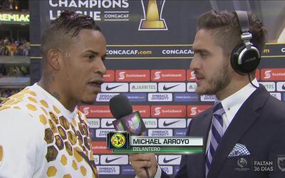 """Michael Arroyo: """"Gracias a Dios pude marcar el gol"""""""