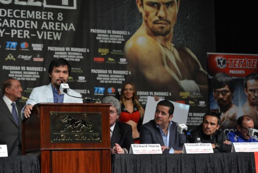 Pacquiao comentó que está listo para derrotar a Márquez.