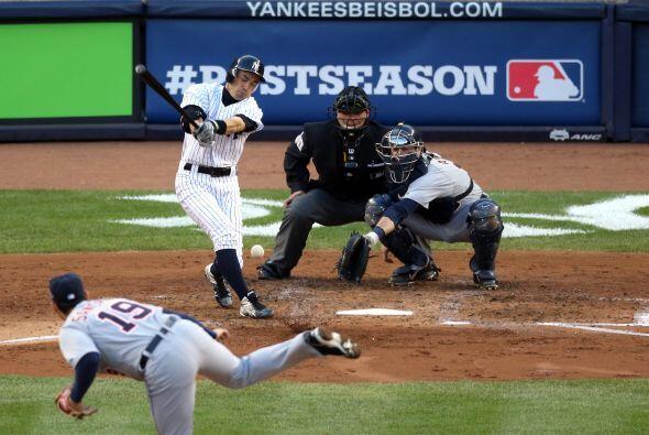 Pésimo partido al bat para los noeyorquinos, que solamente pudier...