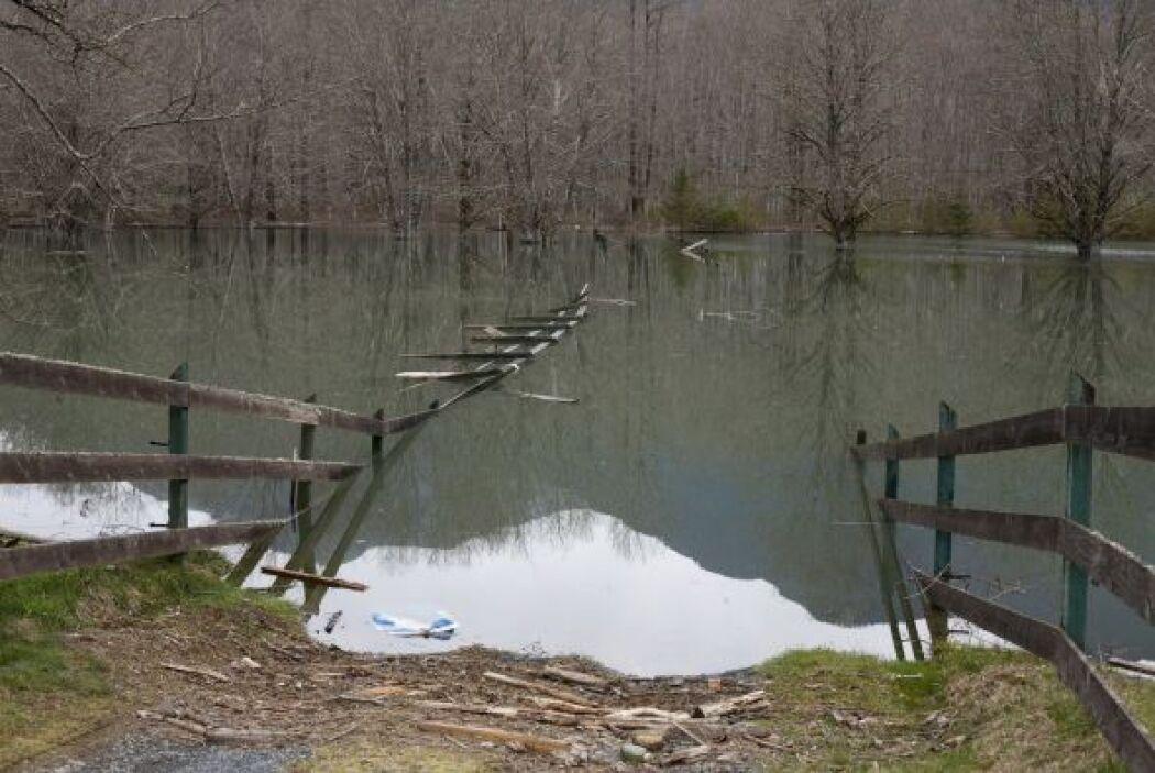 Las frecuentes lluvias y la geografía de la zona hacen que sea propensa...