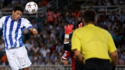 Carlos Vela no pudo anotar y Real Sociedad empató sin goles con Málaga.