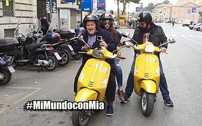 Mi Mundo con Mia, Raúl llevó a Mia a recorrer Roma en Vespa y casi lo ma...