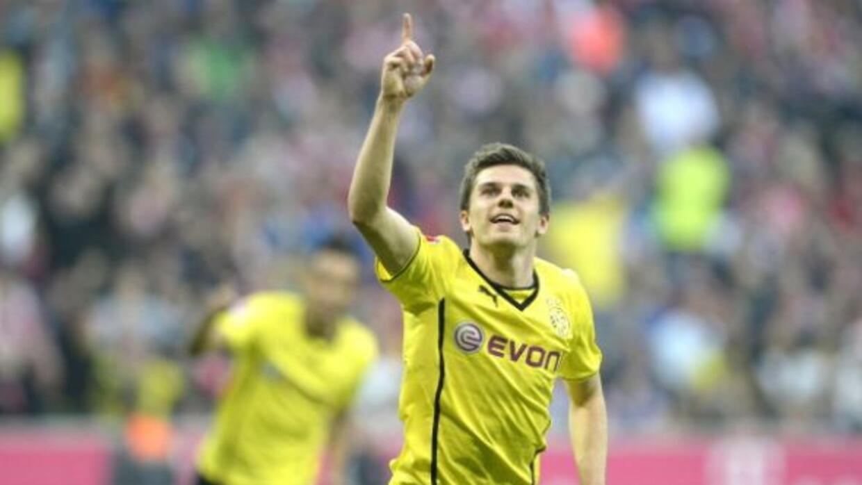 Hofman celebra su gol contra el Bayern en el triunfo de Borussia Dortmund.