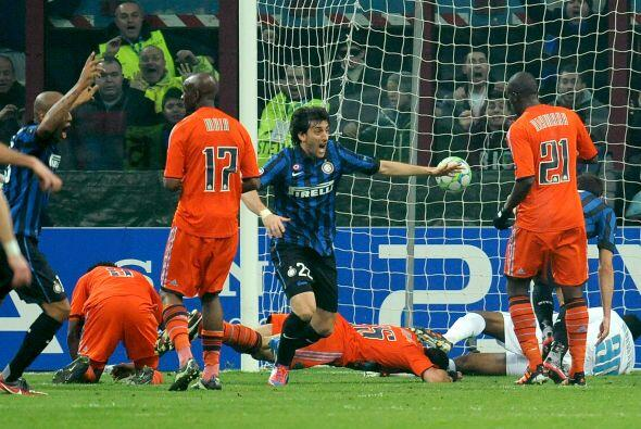 El argentino Diego Milito marcó el primer del partido. Inter le g...