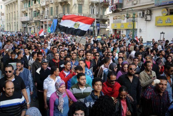 Los disturbios comenzaron en las proximidades de la plaza Tahrir de la c...