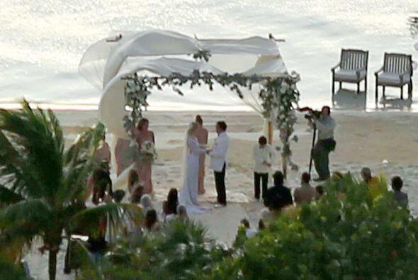 Así se veían Johnny y Amber durante la ceremonia.