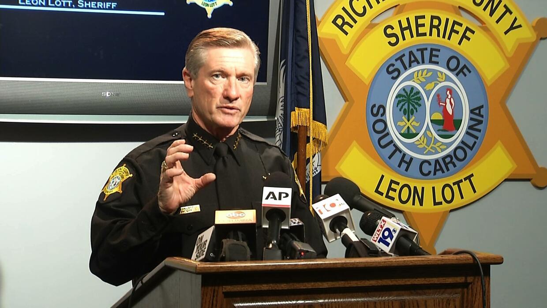 El alguacil Leon Lott hizo el anuncio este miércoles.