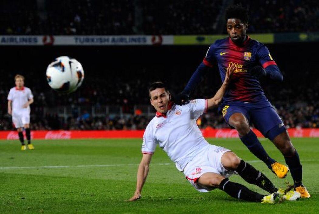 Song fue titular con el Barcelona.