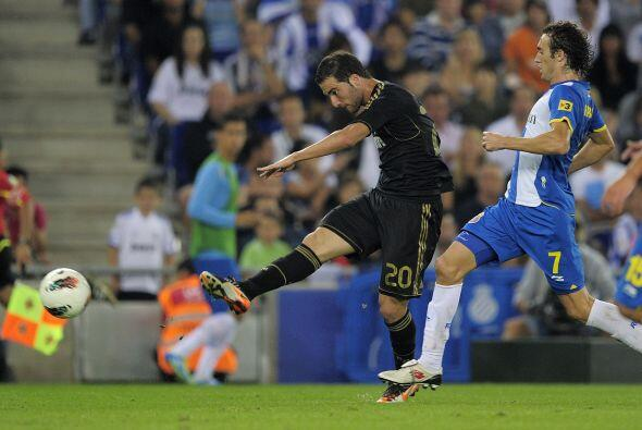 El 'Pipita' no tuvo piedad con la zaga del Espanyol.
