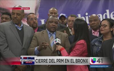 Llamando a votantes el PRM cierra campaña en El Bronx