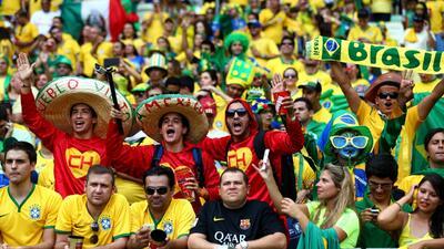 Así vibró el Estádio Castelão en Fortaleza con el himno de México