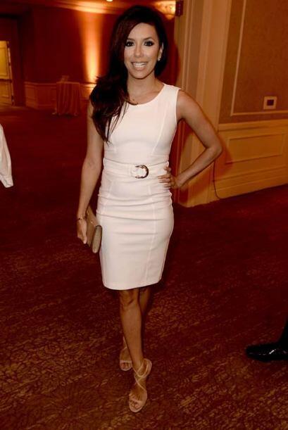 Eva fue sola a varios eventos en agosto, como la fiesta de la Hollywood...