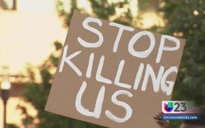 Protesta contra brutalidad policial en Dallas