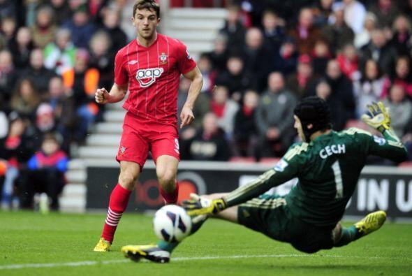 Jay Rodríguez abrió el marcador para Southampton al resolv...