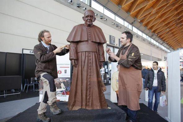 Incluso famosos chocolateros han hecho de Bergoglio su fuente de inspira...