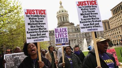 No cesan las protestas por muerte de Freddie Gray