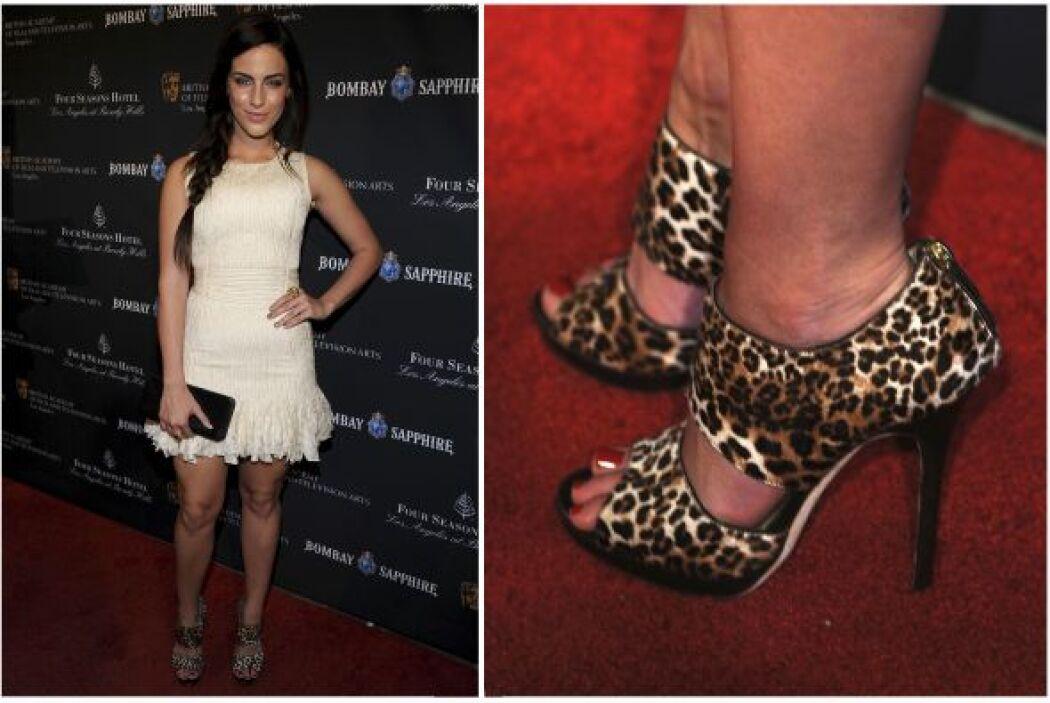 Evan Rachel Wood también eligió estos zapatos bien llamativos, afortunad...
