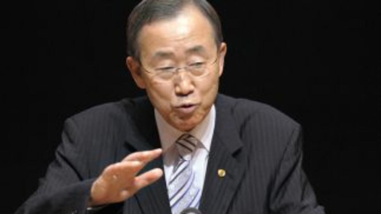 El Secretario General de la ONU, Ban Ki-Moon, visitó Nagasaki para asist...