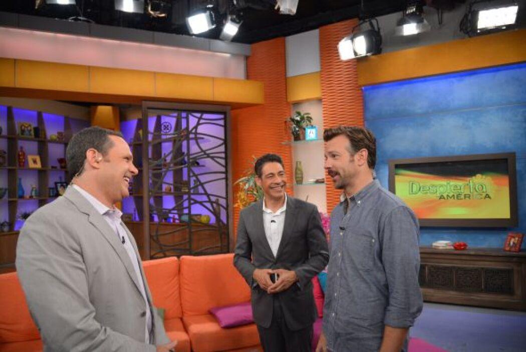 Alan y Johhny rieron muchísimo con las ocurrencias del host de este famoso.