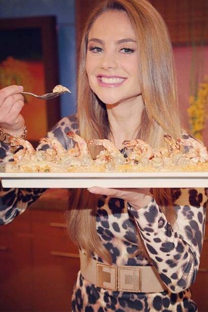 """""""Uno de mis mayores placeres es comer ¡qué rico!"""", expresó Ximena Córdob..."""