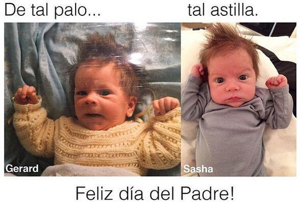 La colombiana compartió en sus redes sociales una foto de su hijo...