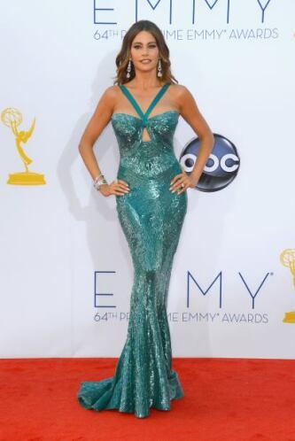 Sin duda alguna, este vestido corte de sirena, forrado de lentejuelas ve...