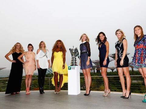 Las ocho mejores tenistas se reunieron en Singapur para presentar el WTA...