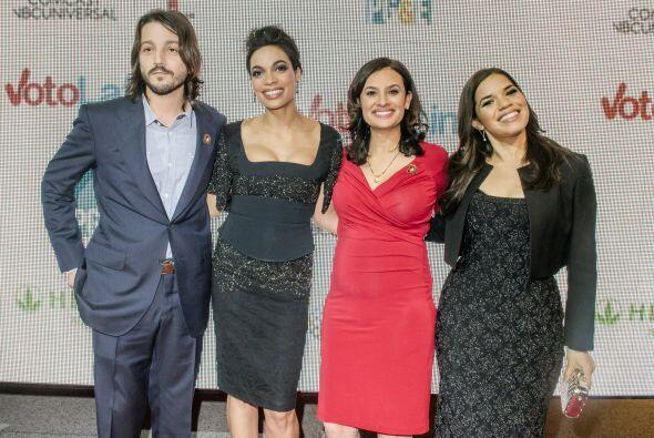 El gran ausente fue Michael Peña quien no pudo asistir al evento....