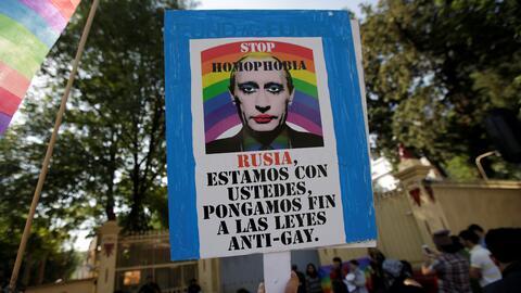 Manifestación en México en contra de la persecución...