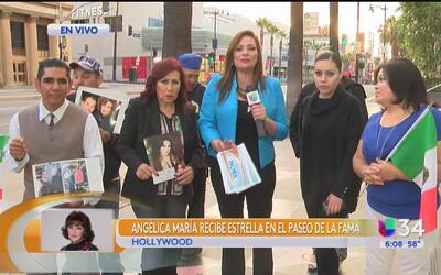 Aficionados listos para celebrar con Angélica María en Hollywood