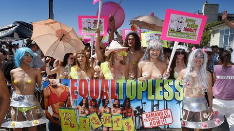 Manifestación para reclamar la igualdad de género.