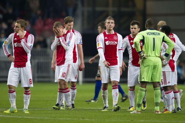 Por su parte, el derrotado Ajax lucía desilusionado tras este gol...